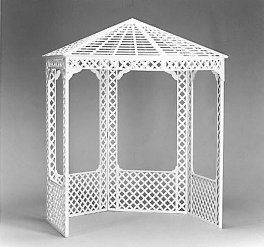 Wedding Rental Portazebo Portazebo A hexagonal lattice gazebo with 4